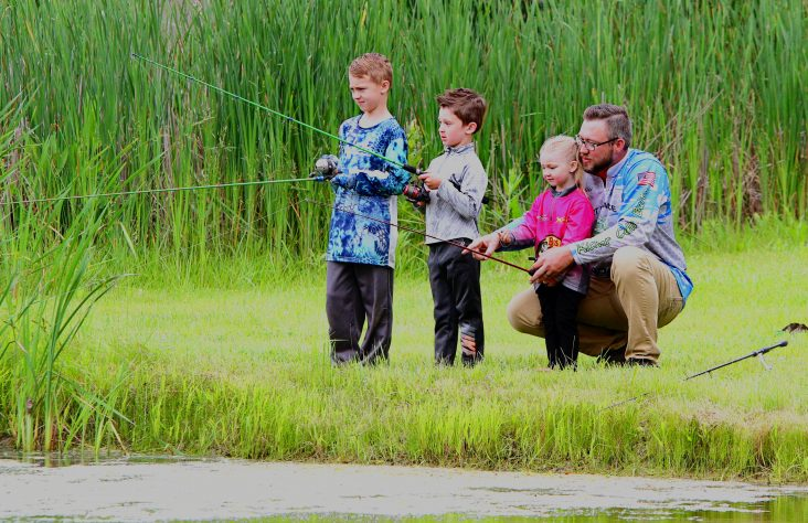 Fishing is father-family time for Bradtmillers