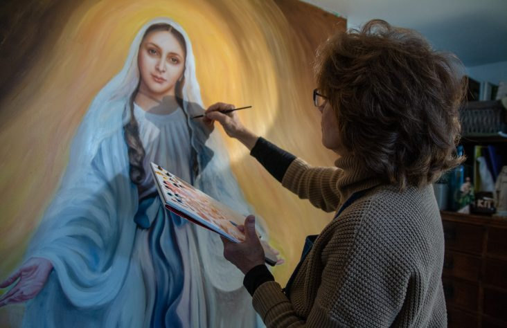 Teacher creates image of school patroness