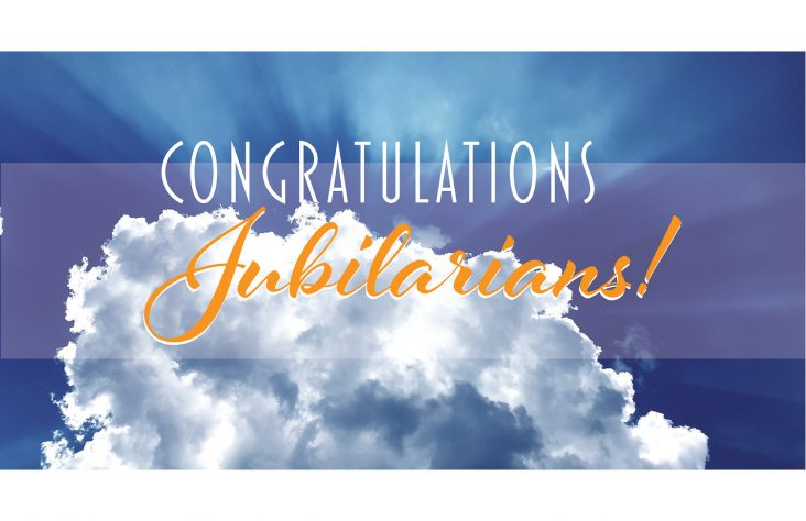 Celebrate with joy the 2019 priest jubilarians!