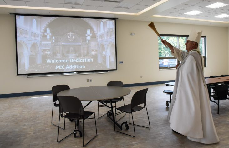 Bishop Rhoades blesses new and updated spaces at St. Pius X