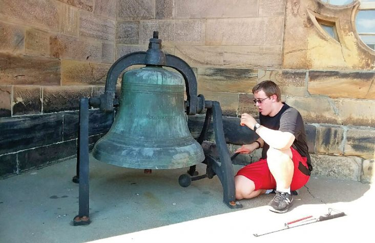 Teen rings in 16th birthday with bells at Indiana parish