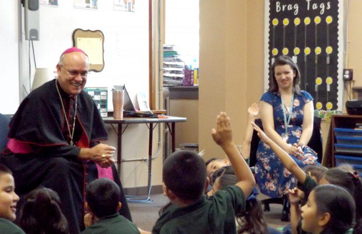 Success through service encouraged during pastoral visit