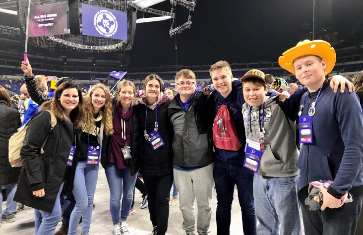 NCYC goes from rowdy to reverent for Eucharist, pope's message