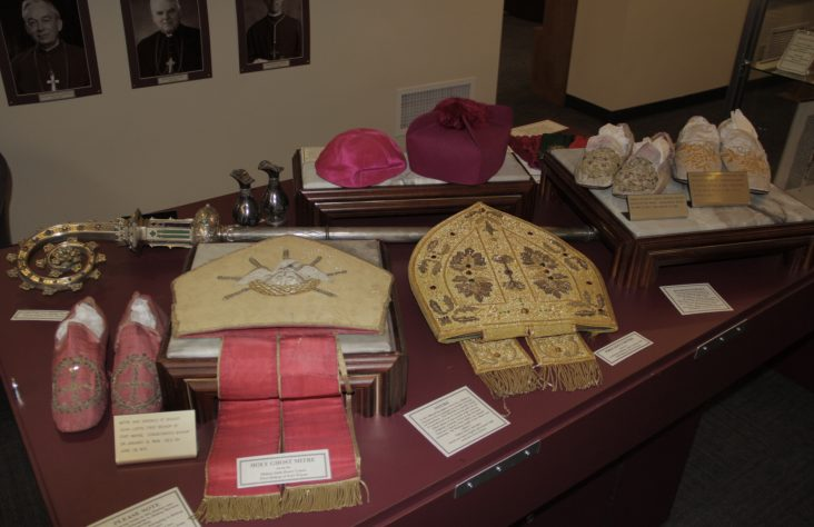 Items used by early bishops on loan to Diocesan Museum
