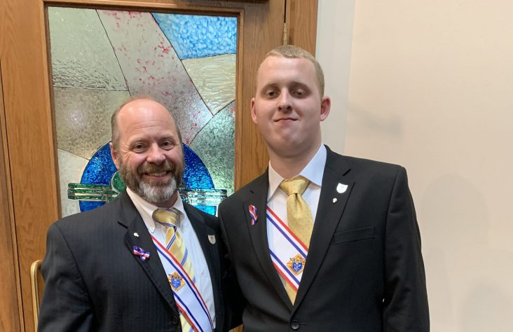 Knights of Columbus confers father and son to fourth degree