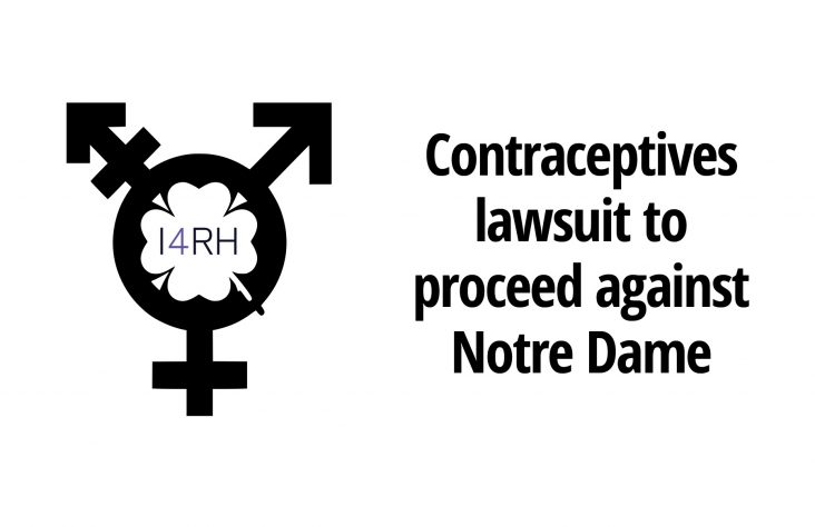 Contraceptives lawsuit will proceed against Notre Dame