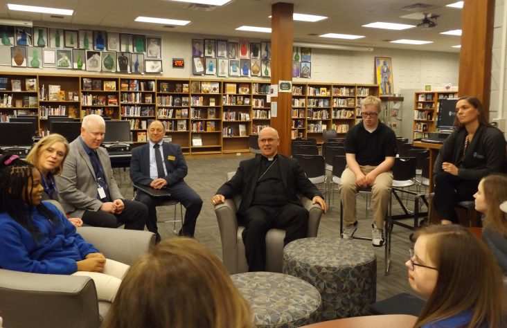 Marian High School pastoral visit —  'Have you accepted Mary as your personal mother?'