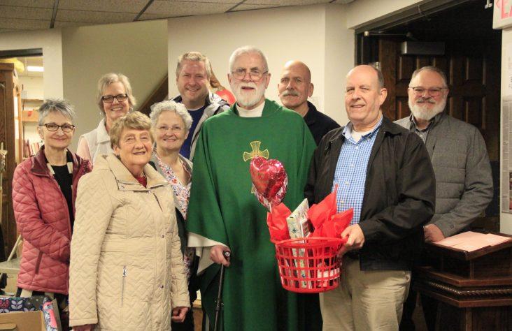 St. Monica parishioners 'Valentine' former pastor