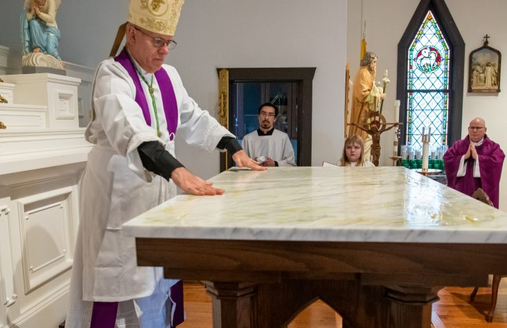Walkerton parish honors Irish roots at Mass of dedication of altar