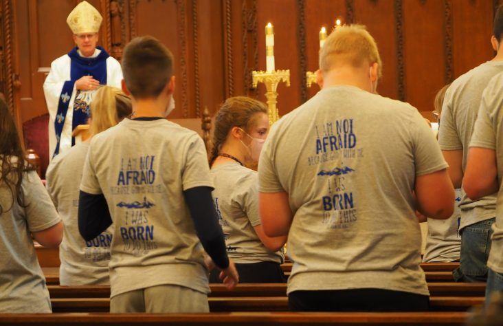 Teens told 'Be not afraid' at parish mission retreat