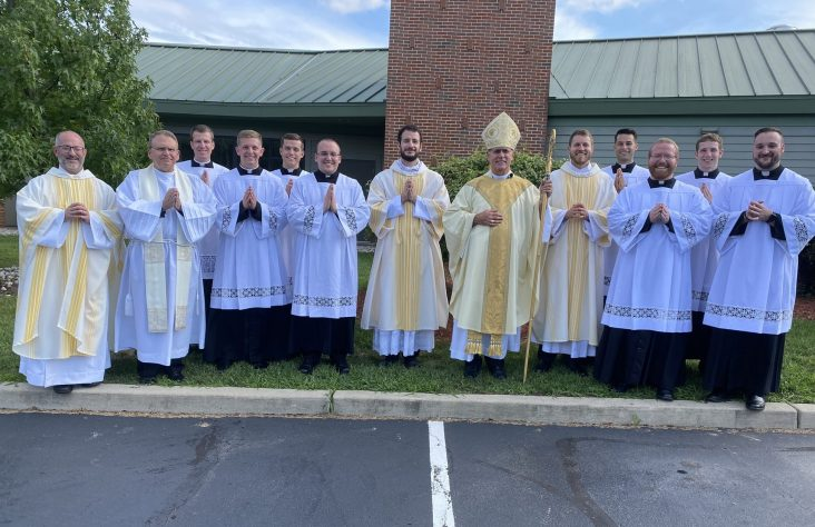 Diocesan seminarians instituted as lectors, acolyte