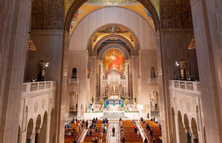 Mass marks beginnings of national shrine a century ago