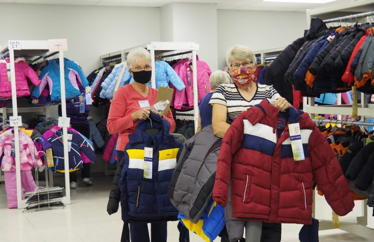 Christ Child Society tries new coat distribution method on for size