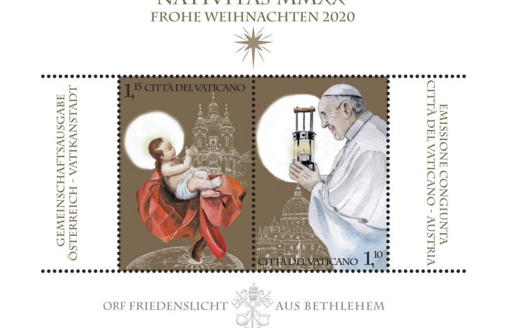 Vatican Christmas:Details of stamps, Nativity scene, tree released