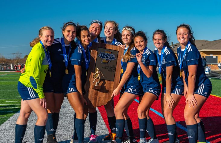 Bishop Dwenger High School girls volleyball and soccer teams win state championships