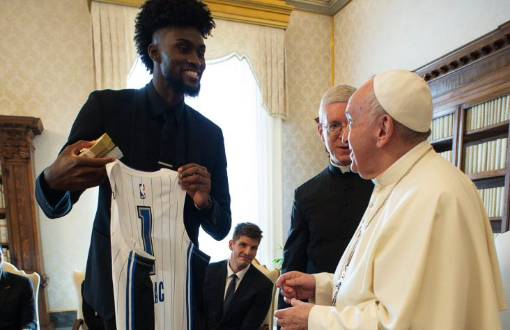 Pope meets with NBA players union delegation at the Vatican