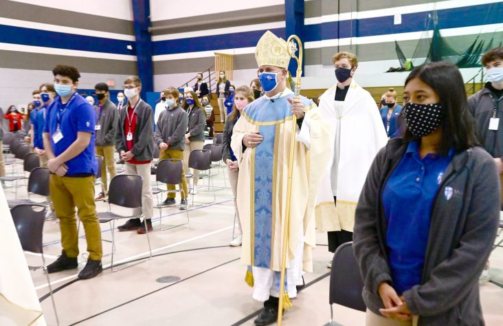 Jesus gives suffering a purpose, bishop tells Marian students