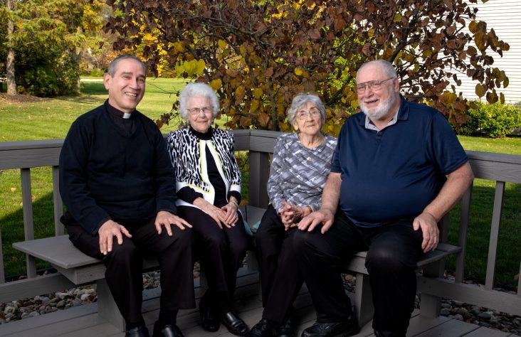 Friends reunited through Catholic parish