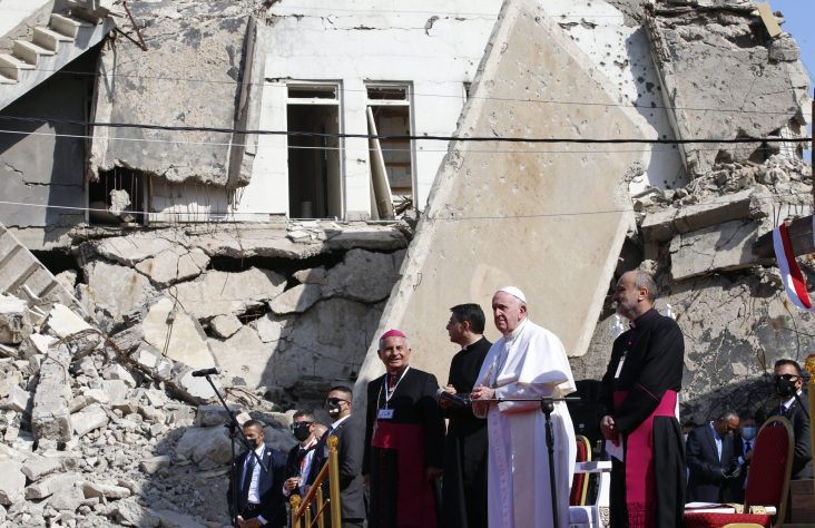 Life triumphs over death as Christians rebuild in Iraq, pope says