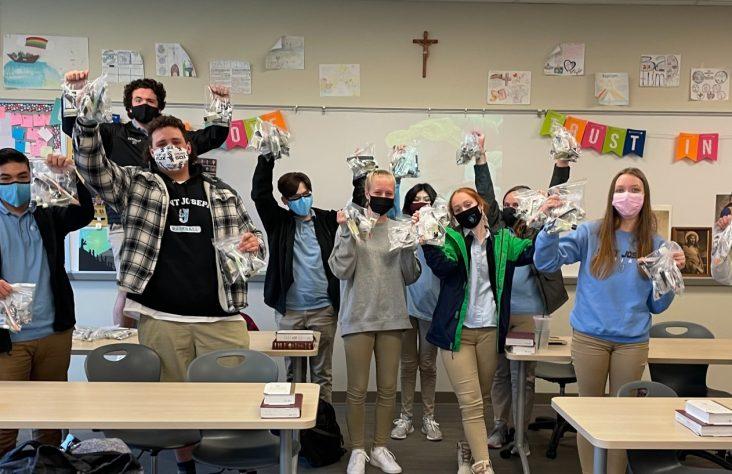 Pandemic doesn't mask joy at Saint Joseph High School