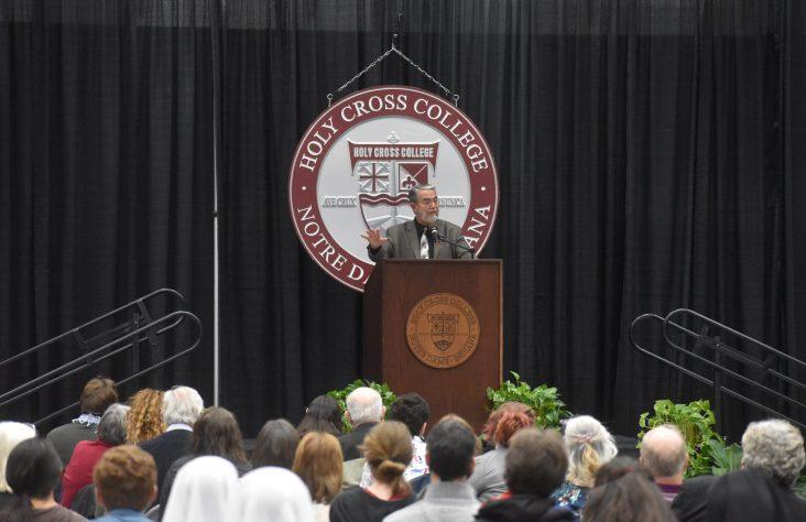 At Holy Cross College, Scott Hahn speaks of St. Joseph: 'Silent Knight, Holy Knight'