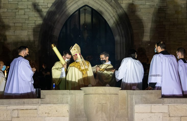 Bishop Rhoades celebrates 'the most sacred night in the history of humanity'