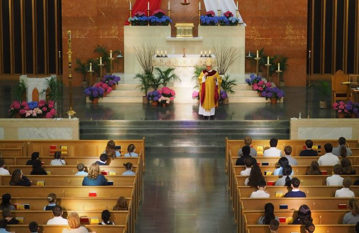 Bishop to students: 'We are temples of the Holy Spirit'