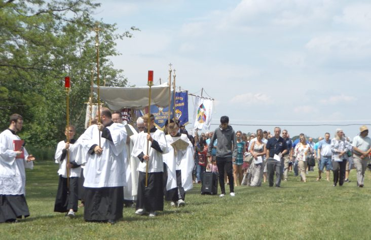 Celebration on feast of Corpus Christi includes renovation blessing