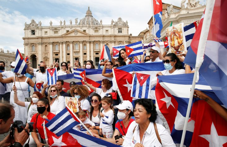 Pope expresses closeness with Cuban people as unrest continues