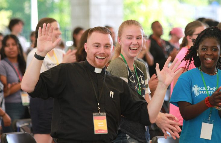 Teens receive the Lord at stateside World Youth Day