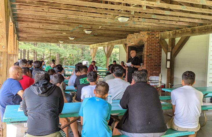 Retreat brings together fathers, sons at St. Patrick's County Park