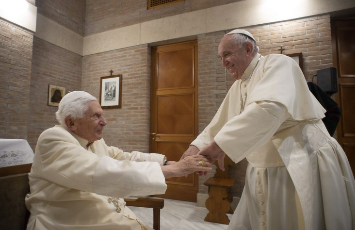 Pope Francis says Benedict rightly warned against not respecting life