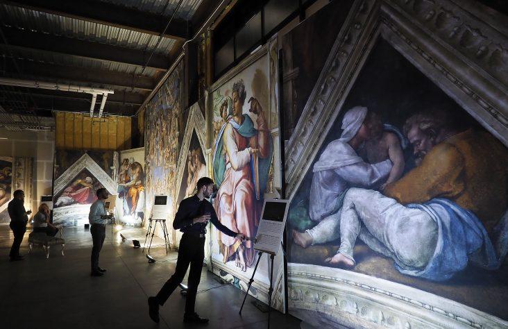 Visitors at Michelangelo exhibit see Sistine Chapel up close